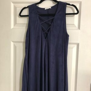 Mod Ref blue suede dress